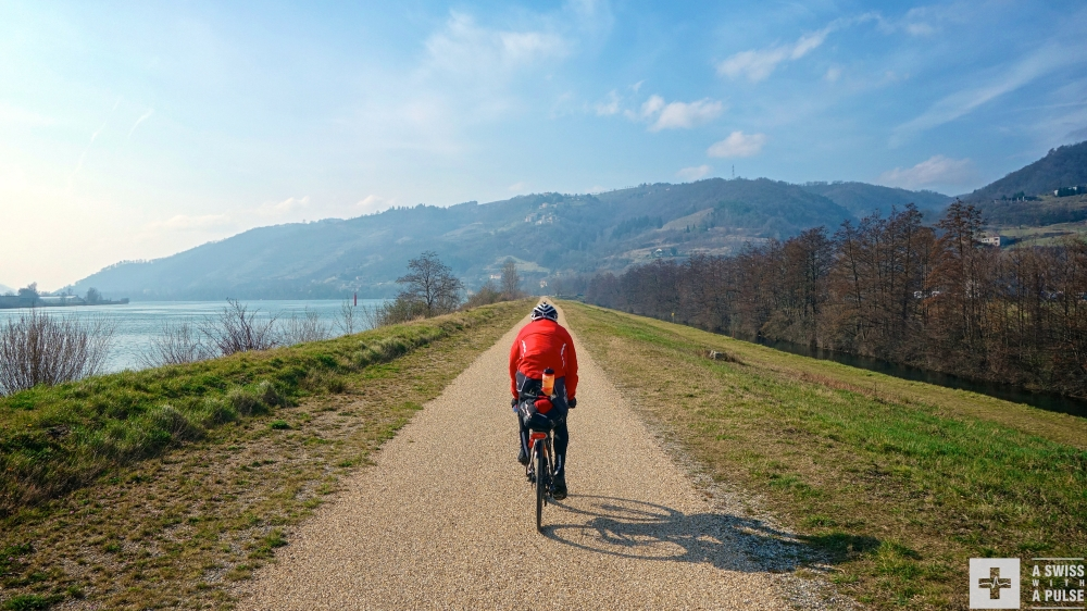 Adventure cycling in France: riding down the Rhone valley on a quiet bike path