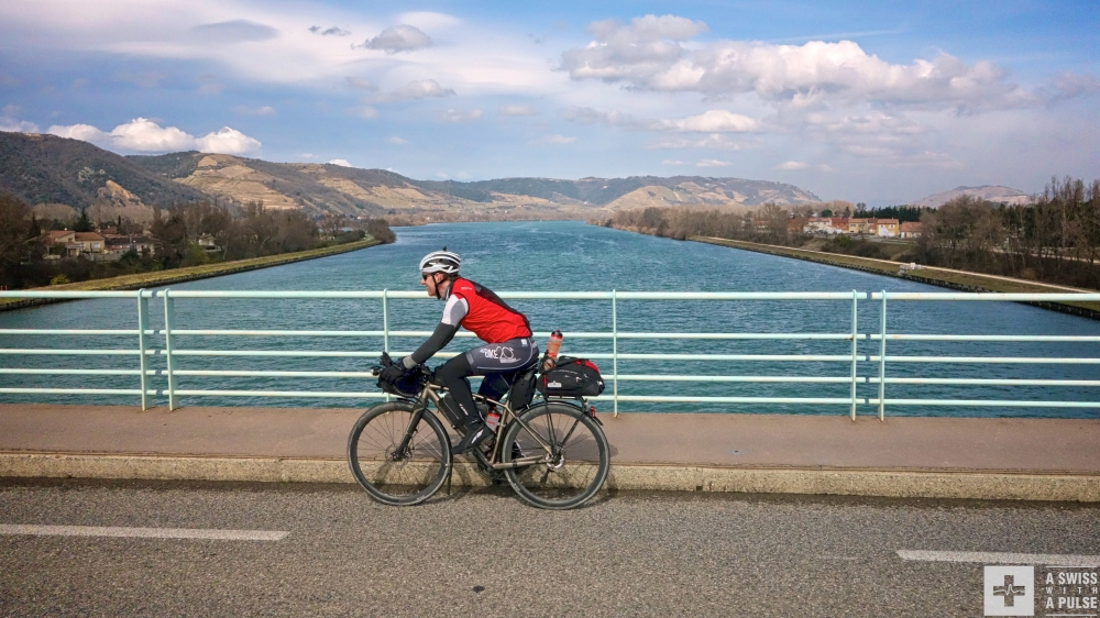 Training for the Transcontinental Race: we crossed the Rhone many times