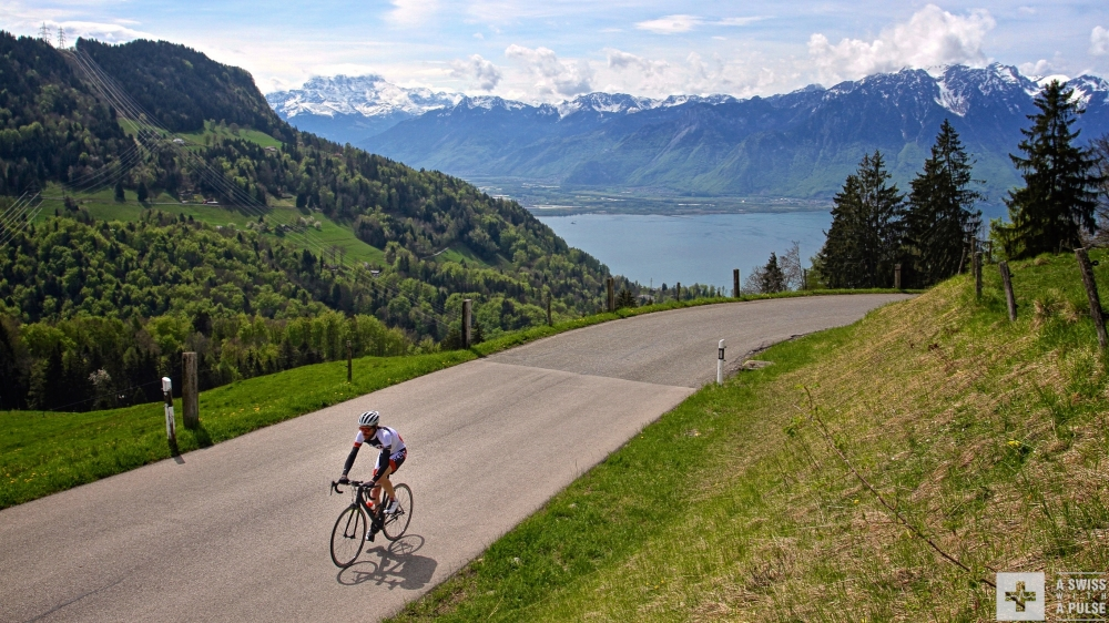 Beautiful views on Lake Geneva make climbing easier. Or not?