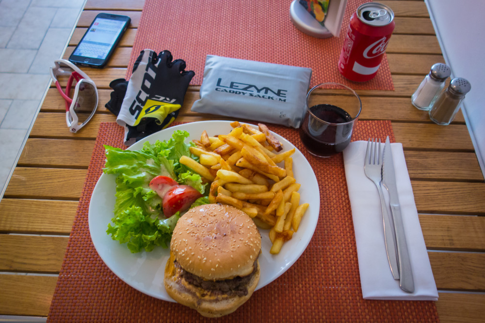 A typical meal during the 2015 Transcontinental Race