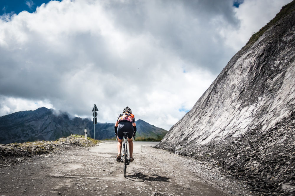 On the Col du Sanetsch with Polly during SUF Camp in June