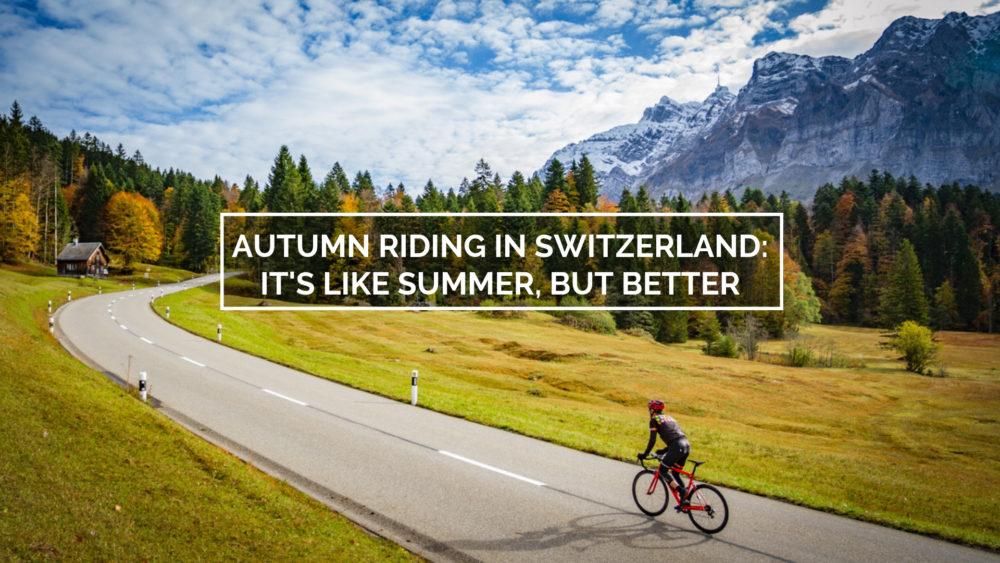 Cyclist climbing towards Schwägalp in northeastern Switzerland