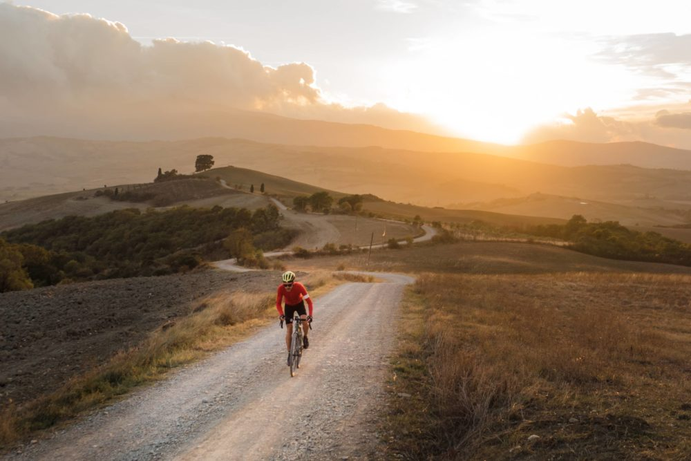 Sunset ride on the Strade Bianche