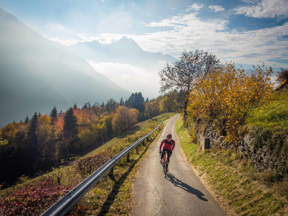 Autumn ride in Gryon, Switzerland