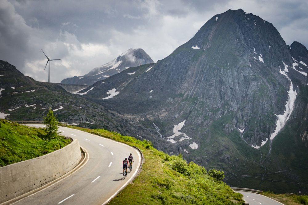 Climbing the Nufenen pass, Switzerland